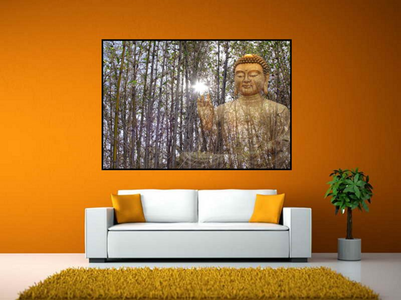 Home Interior With Buddha Blessing by Wolf Kesh