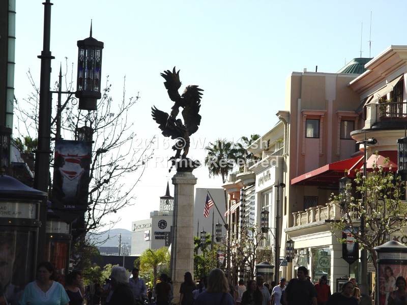 The Spirit of Los Angeles at The Grove Los Angeles Stock Photo By Wolf Kesh